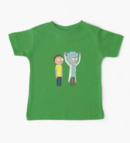 Tiny Rick and Morty Baby Tee