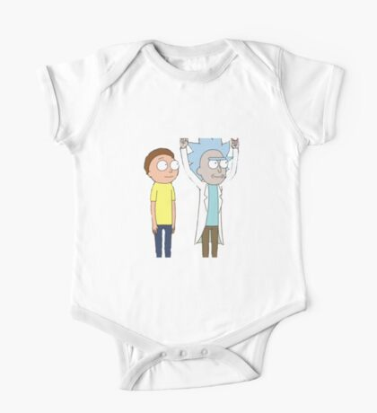 Tiny Rick and Morty One Piece - Short Sleeve