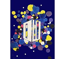 Dr Who Logo Colour Splatter Photographic Print
