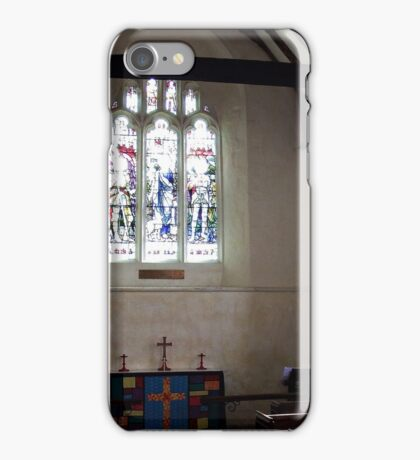 Inside the little Church where Hans service was held. iPhone Case/Skin