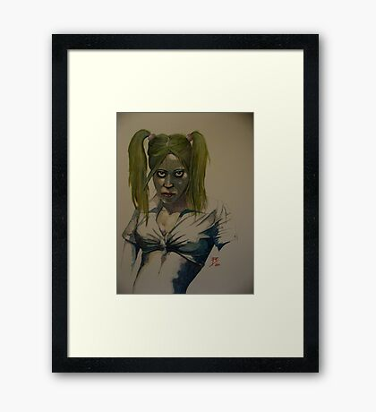 Deborah (Welcome, you're just in time for dinner) Framed Print