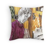 Morning paper, Kim Throw Pillow