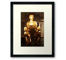 Three golden boys Framed Print