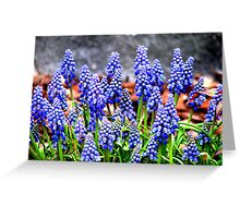 In to Blue Greeting Card