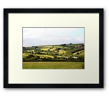 Farmlands of Brecon Framed Print