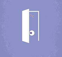 No161 My Monster Inc minimal movie poster by JinYong