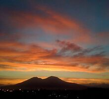 VESUVIUS AT NIGHT RED SKY DELIGHT  by NA1926Miki