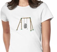 Lonely Robot on a Swing Womens Fitted T-Shirt