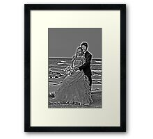 black and white with a halo Framed Print