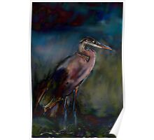 Heron Painting Poster