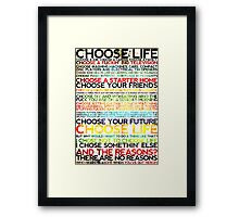 Choose Trainspotting Framed Print