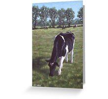 Cow in field at Throop,UK Greeting Card