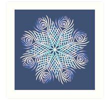 Peacock feathers / Mandala Art Print