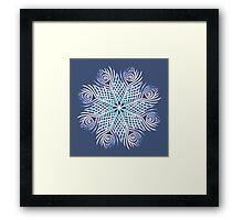 Peacock feathers / Mandala Framed Print