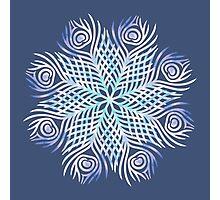 Peacock feathers / Mandala Photographic Print