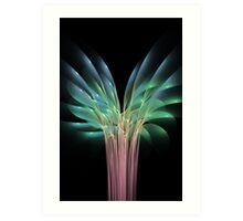 Flowers and colours flames Art Print