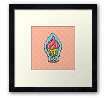 Dead Cupcake Framed Print