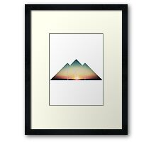 sunset mountains  Framed Print