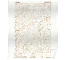 USGS Topo Map Oregon Little Black Canyon 280540 1990 24000 Poster