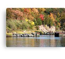 Farm River in the Fall Canvas Print