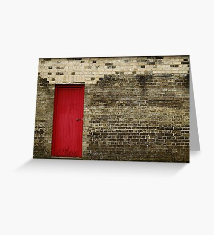 Red or Wall Greeting Card