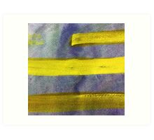 Three Yellow Lines Art Print