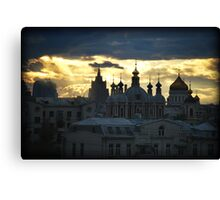 From a Hotel window in Moscow Canvas Print