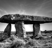Lanyon Quoit in monochrome by Christine Hosey