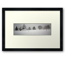 Trees In Snow and Fog - Bridgton Highlands Framed Print
