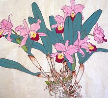 Orchids with roots  by bettymmwong