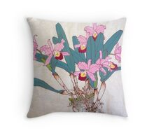 Orchids with roots  Throw Pillow