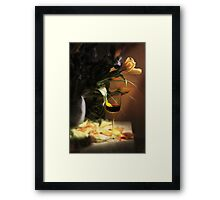 Drop of Red Wine Framed Print