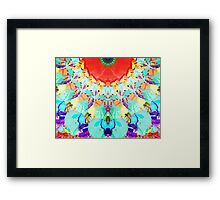 Abstract Textural Colors Framed Print