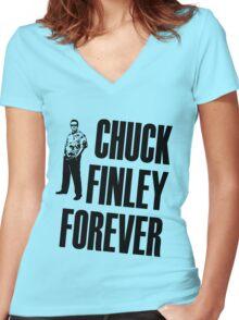 Chuck Finley Forever Women's Fitted V-Neck T-Shirt