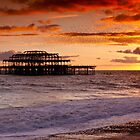 West Pier SunSet by Leon Ritchie