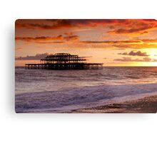 West Pier SunSet Metal Print