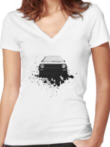 MK2 Golf Front Women's Fitted V-Neck T-Shirt