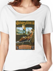 Chicago & Alton Railroad Vintage Travel Poster Women's Relaxed Fit T-Shirt