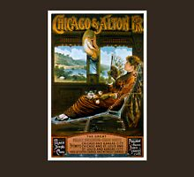 Chicago & Alton Railroad Vintage Travel Poster Unisex T-Shirt