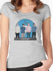 WEEZER - THE BLUE ALBUM. Women's Fitted Scoop T-Shirt