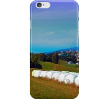 Hay bales, clouds and some scenery iPhone Case/Skin