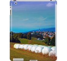 Hay bales, clouds and some scenery iPad Case/Skin