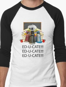 Educate not Exterminate  Men's Baseball ¾ T-Shirt