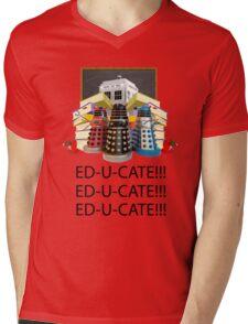 Educate not Exterminate  Mens V-Neck T-Shirt