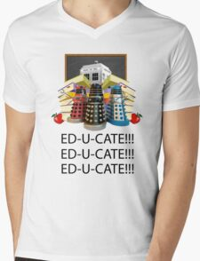 Educate not Exterminate  Mens V-Neck T-Shirt