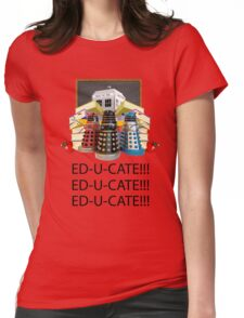 Educate not Exterminate  Womens Fitted T-Shirt