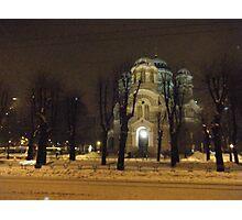 Snow in Riga Photographic Print