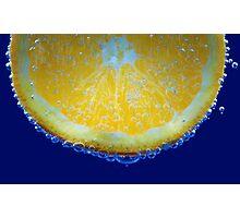 orange bubbles.. Photographic Print