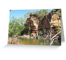 So peaceful & quiet, Umbrawarra Gorge. N.Territory Australia. Greeting Card