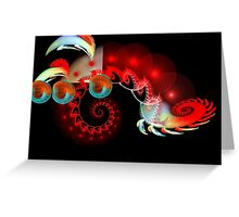 Alien Anteaters and Space Worms  (UF0159) Greeting Card
